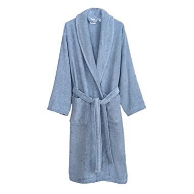 TowelSelections Women's Organic Cotton Bathrobe Terry Shawl Robe Made in Turkey