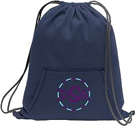 Personalized Soccer Monogram Sackpack BagFleece Sweatshirt Cinch Pack