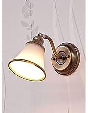 Licht-Erlebnisse Decorativo Bad Lampada alogena 28Watt in Bronzo Effetto Specchio Luce Stile Liberty