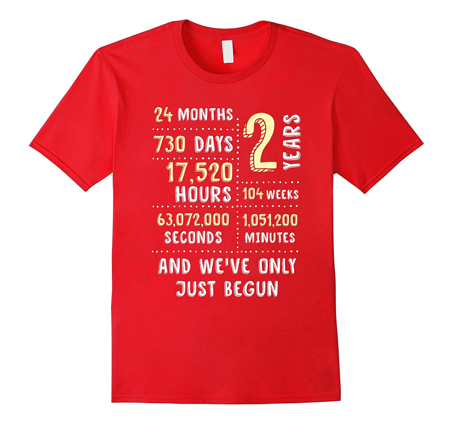 2 Year Anniversary T-Shirt / Cute Gift for Her or Him-TH