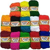 Yardley Five Star Oswal Acrylic Hand Needle Art Craft Soft Fingering Crochet Hook Knitting Thread Dyed Wool Yarn, 25 Inch, Multicolour - Pack of 13