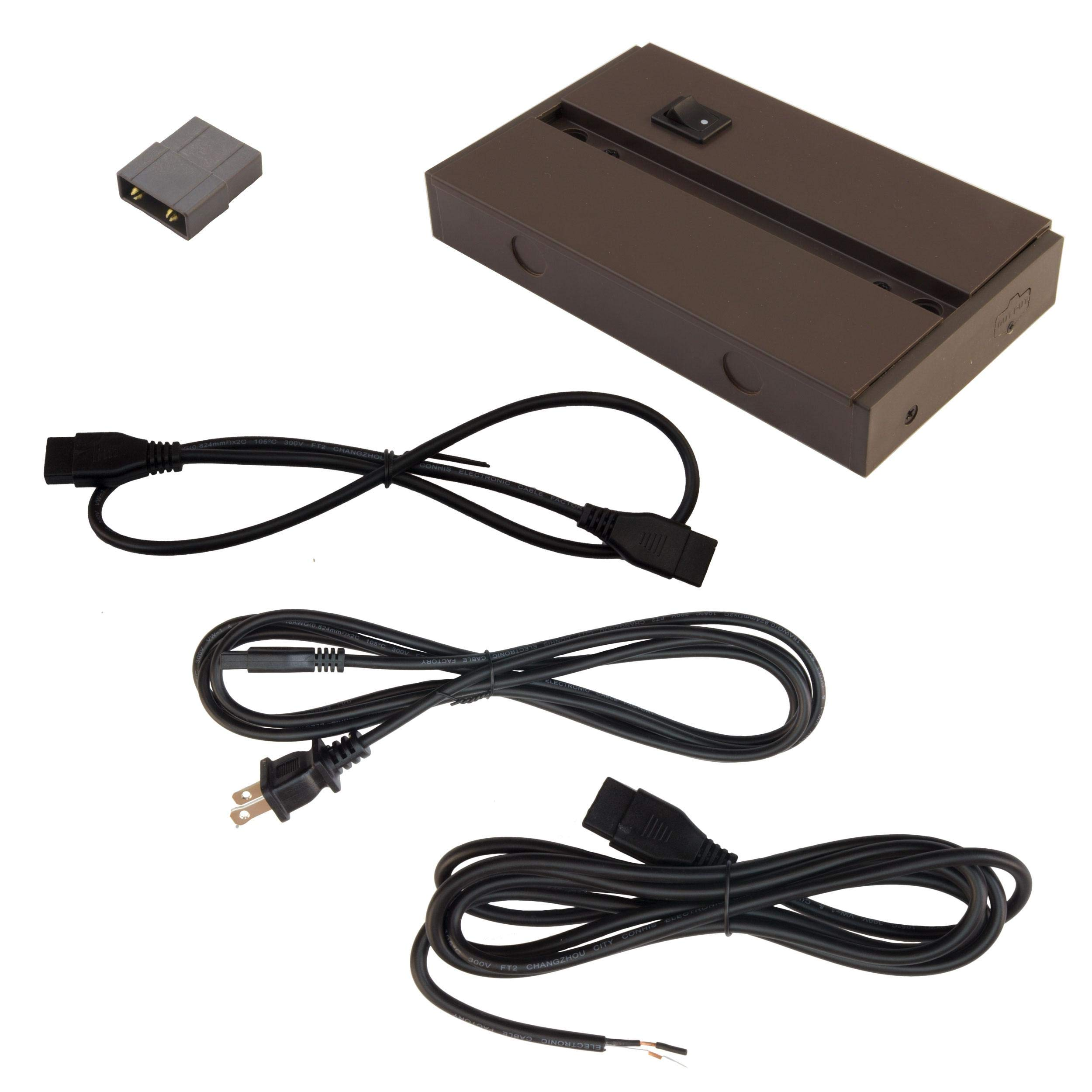 Diode LED Fencer Series FOIL Direct-Wire Switch and Junction Box Dark Bronze