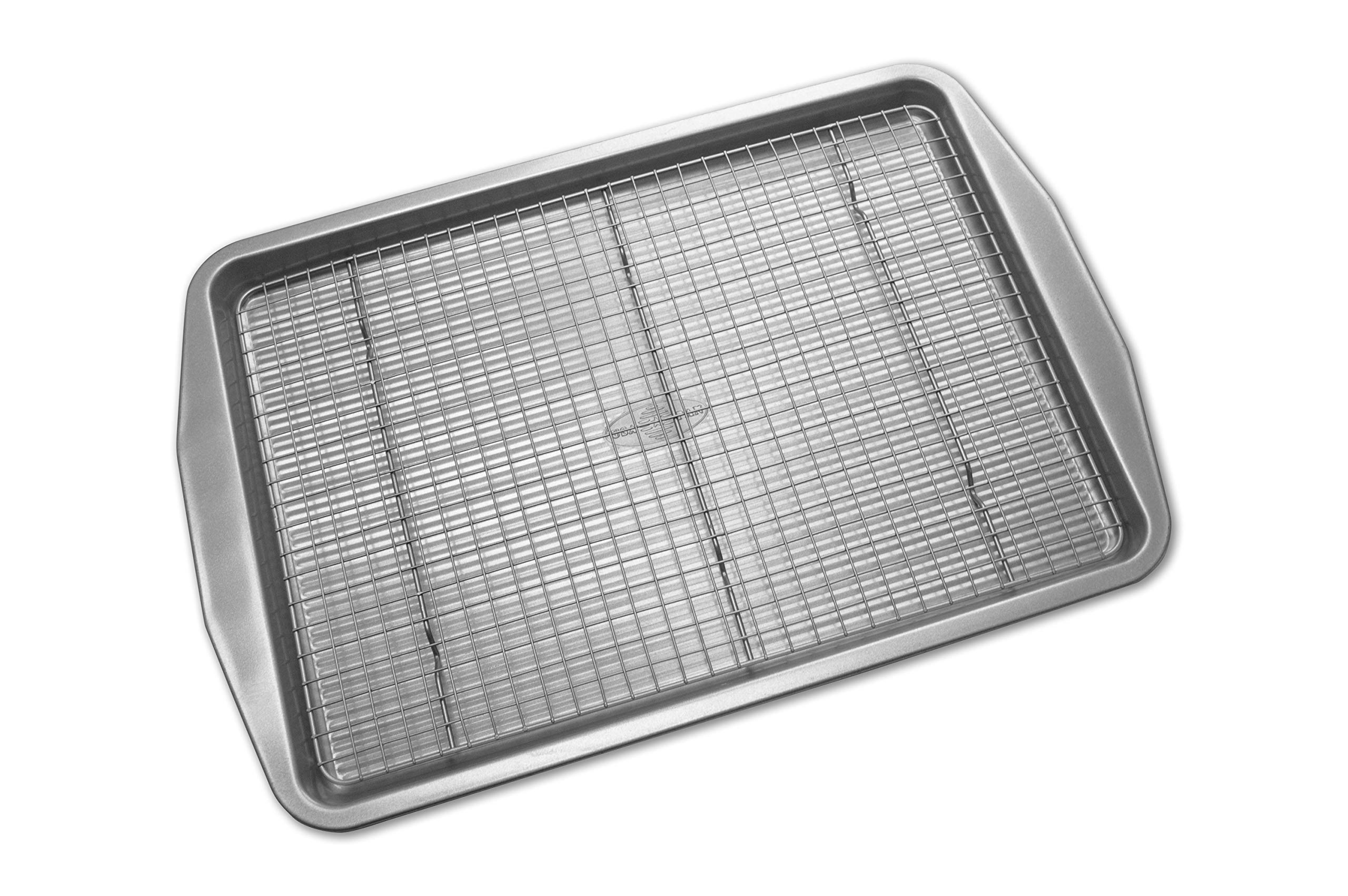 USA Pan 1606CR-3-ABC American Bakeware Classics Half Sheet Baking Pan and Cooling Rack, Aluminized Steel