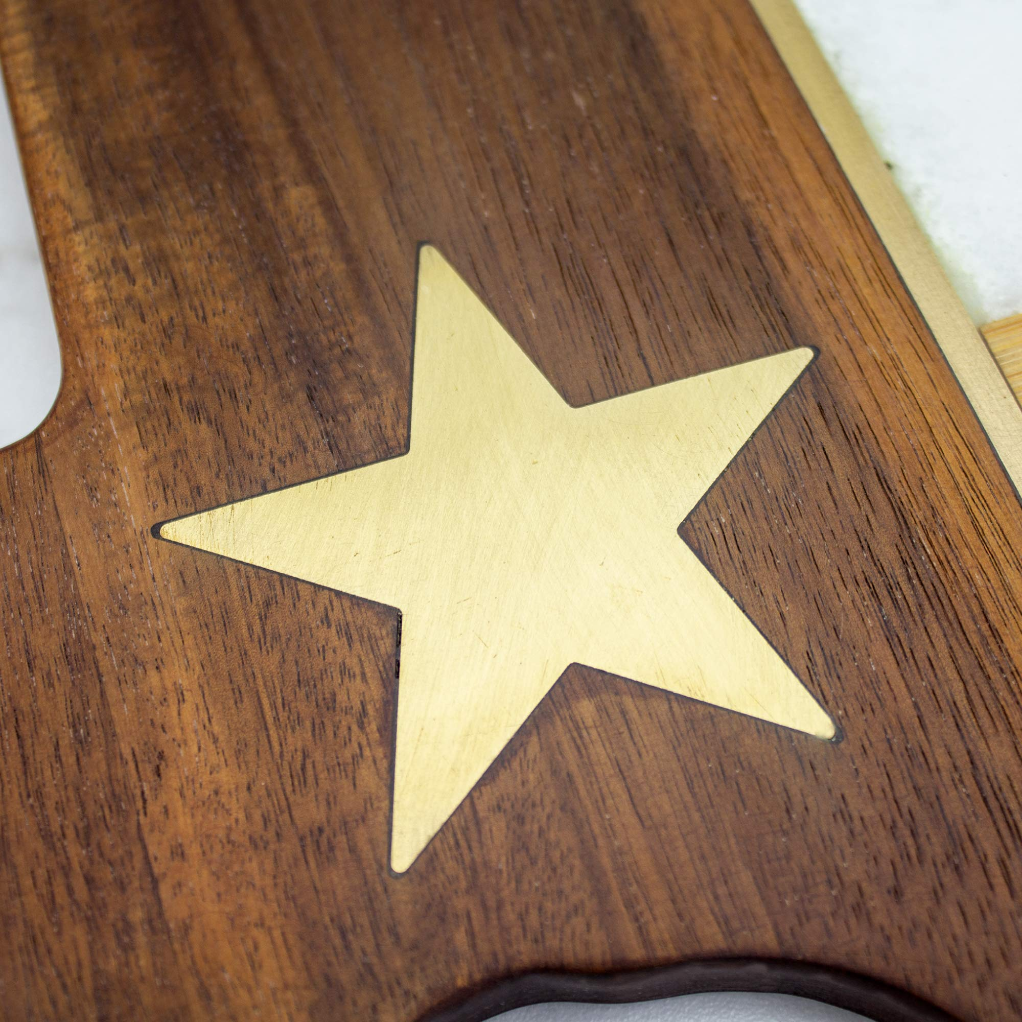 Totally Bamboo Rock & Branch Series Republic of Texas State Shaped Serving Board by Totally Bamboo (Image #3)