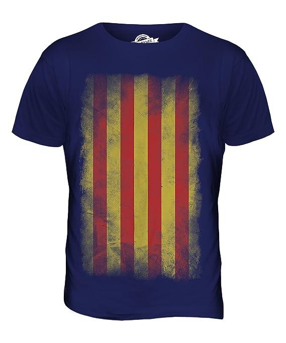 CandyMix Katalonien Verblichen Flagge Herren T Shirt: Amazon.de: Bekleidung