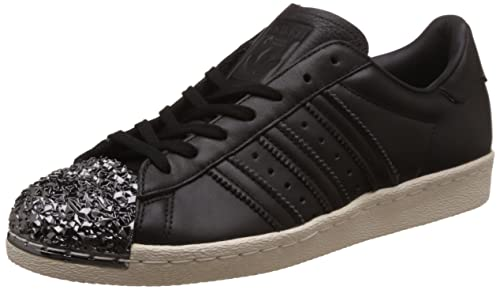 e66b4c1cf18b1a adidas Womens Originals Womens Superstar 80s Metal Toe Trainers in Black -  UK