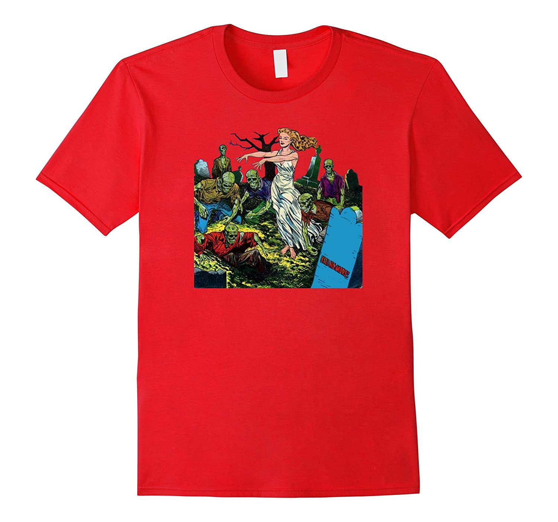 Vintage Zombie Shirt - Creepy Halloween Zombie TShirt-FL