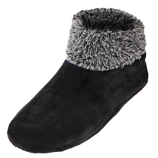 f01714f03 Leisureland Womens Sherpa Lined Knit Winter Fleece Cozy Slipper Socks (One  Size, Ankle Fuzzy Black) at Amazon Women's Clothing store: