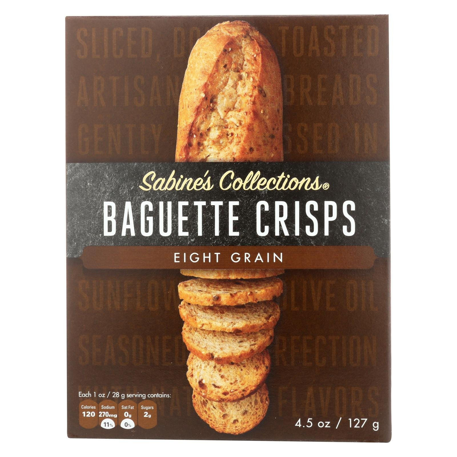 Sabine's Collections Baguette Bread Crisps Eight Grain Certified Kosher 4.5 oz - 12 pack by Sabine (Image #1)