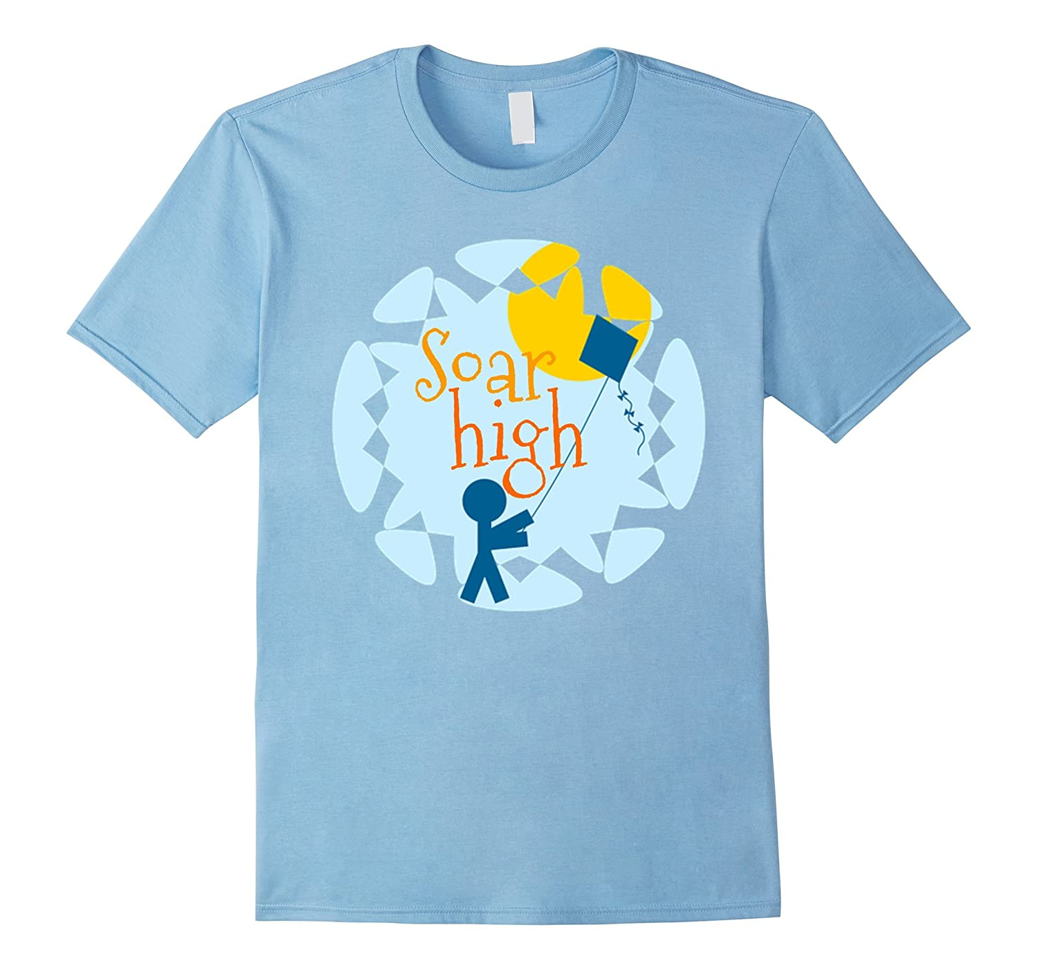 """Soar High"" Kite Flying Fun T-Shirts Go Fly a Kite Youth Tee"