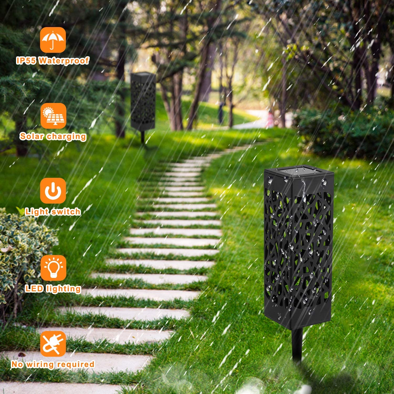 YAOBLUESEA 6 St/ück Solarleuchte Garten Outdoor LED Solarlampe Gartenleuchte Solarlampen f/ür drau/ßen,Wasserdicht IP55,600mAh Batterie,Decorative Solarlampe,Terrasse,und Garten Hofwege Warmwei/ße