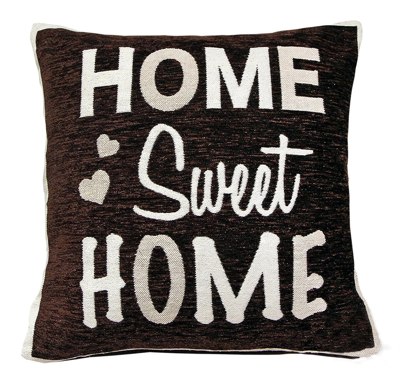 Home Sweet Home - Funda para cojín (Chenilla), diseño con ...