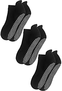 Amazon.com: Non Skid Slip Sticky Grippers Socks Pilates ...