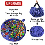 Toy Storage Mat Bag for Toy Mat Bag – Portable Toy Storage Container for Children Toys Organizer with Cap Like Travel Bag as