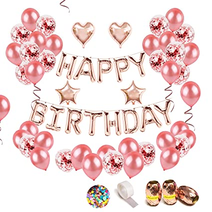 68Pcs Birthday Party Decorations Including 13 Letter Foil HAPPY BIRTHDAY Balloons Banners 15 Pieces Pre