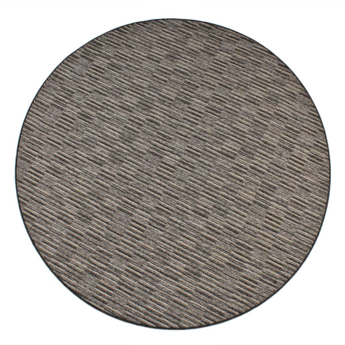 Havatex Schlingen Teppich Torro rund - Farbe wählbar   Geprüfte Qualität  die Teppiche sind schadstoffgeprüft robust und pflegeleicht   für Wohnzimmer Schlafzimmer, Farbe Grau, Größe 100 cm rund B0776RPM2W Teppiche & Lu