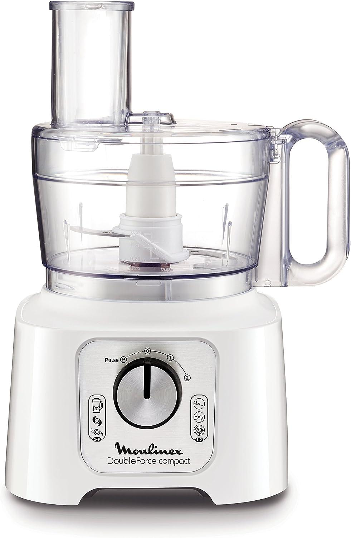 Moulinex Doubleforce Compact Robot de Cocina, 800 W, 2.2 litros, De plástico, Blanco: Amazon.es: Hogar