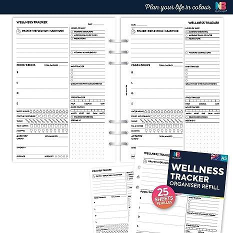 nbplanner diet exercise tracker organiser refill planner insert