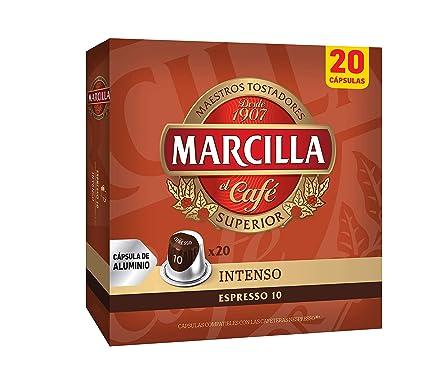Marcilla Café Espresso Intenso - Intensidad 10 - 20 Cápsulas de ...