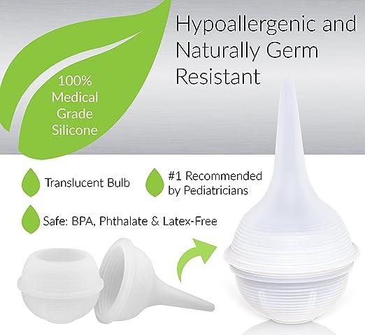 Innovo Twister Bulb Baby Nasal Aspirator and Booger Sucker – Hospital Grade Silicon – Non-toxic, Cleanable and Reusable