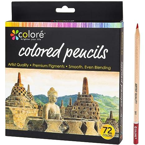 Amazon.com : Colore Colored Pencils - 72 Premium Pre-Sharpened Color ...