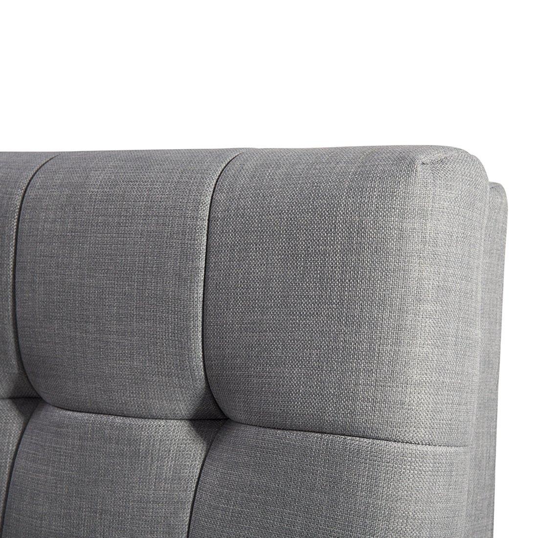 Cama de agua - Tapizada - 160 x 200 cm - Color gris - Conjunto ...