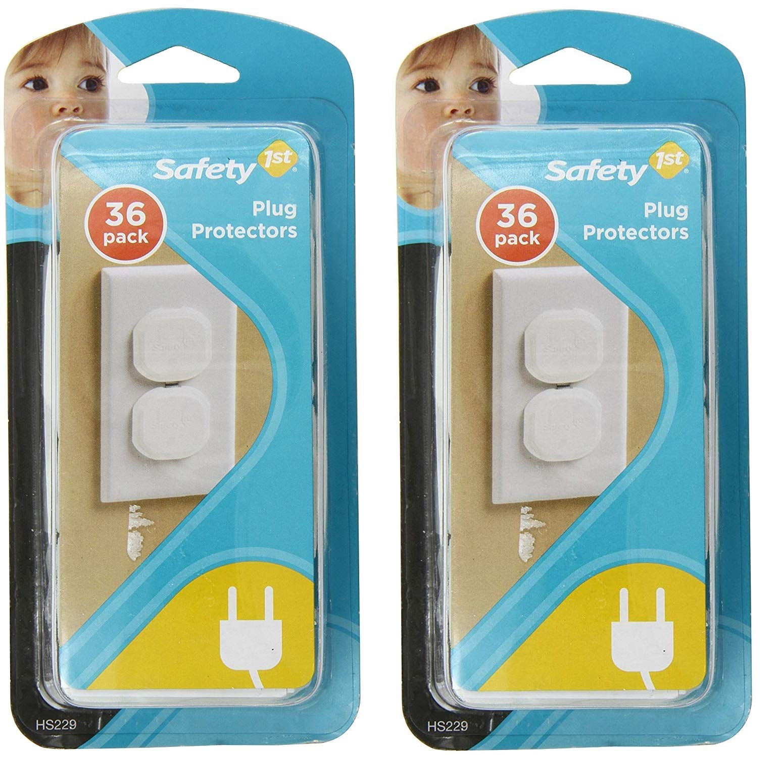 Safety 1st 72 Pack Secure Press Plug Protectors
