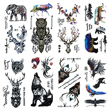 Amazon Com Cokohappy 8 Sheets Temporary Tattoo 27 Different