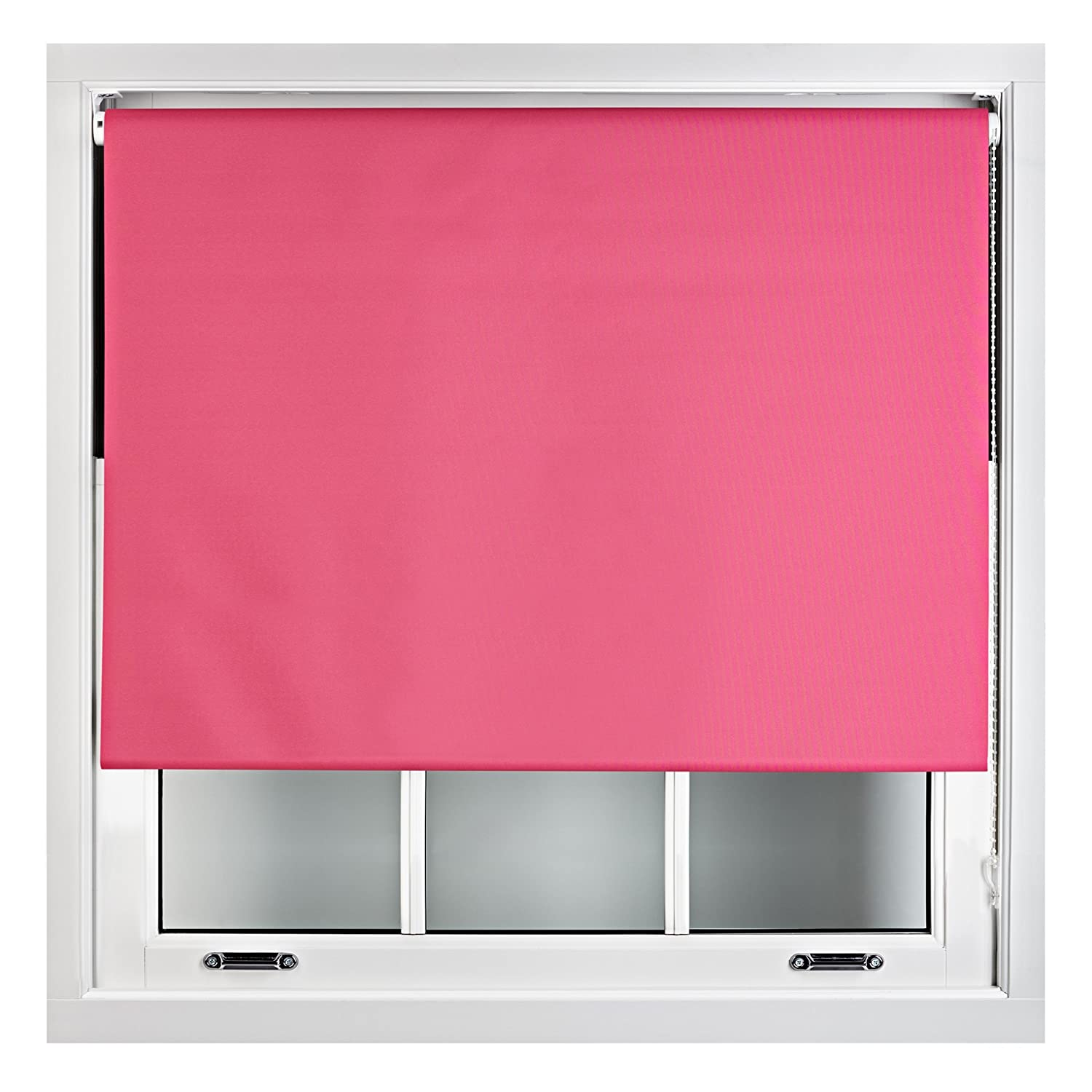 Blackout Roller Blind in Different Colours & Sizes - Trimmable - Black 60cm x 165cm Furnished 60BLKBO__1