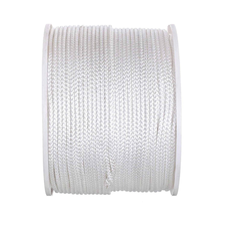 825 Pounds Tensile Strength White 8-Strand Braided Polypropylene Seachoice 48011 Tie Down Cord 7//32-Inch x 1,000 Feet