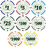 50 Casino Del Sol 11.5 gram Poker Chips with Denominations