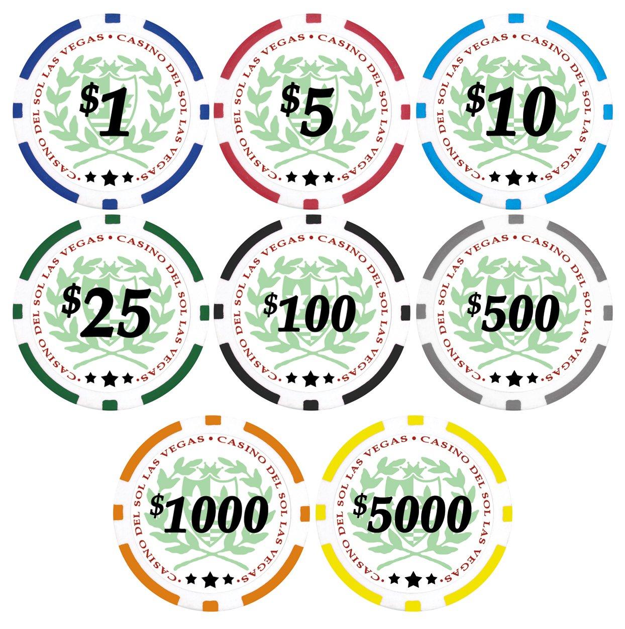 50カジノdel Sol 11.5 Gram Yellow Poker Poker 50カジノdel Chips with Denominations Yellow $5,000 B010RIX272, GLOCALWORKS81:092997b2 --- itxassou.fr