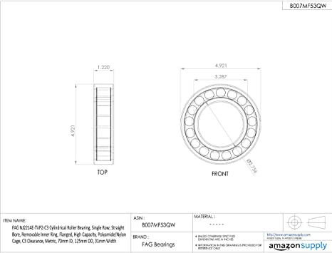 Fag N204ETvp2C3 Cylindrical Roller Bearing Removable Outer Ring ...