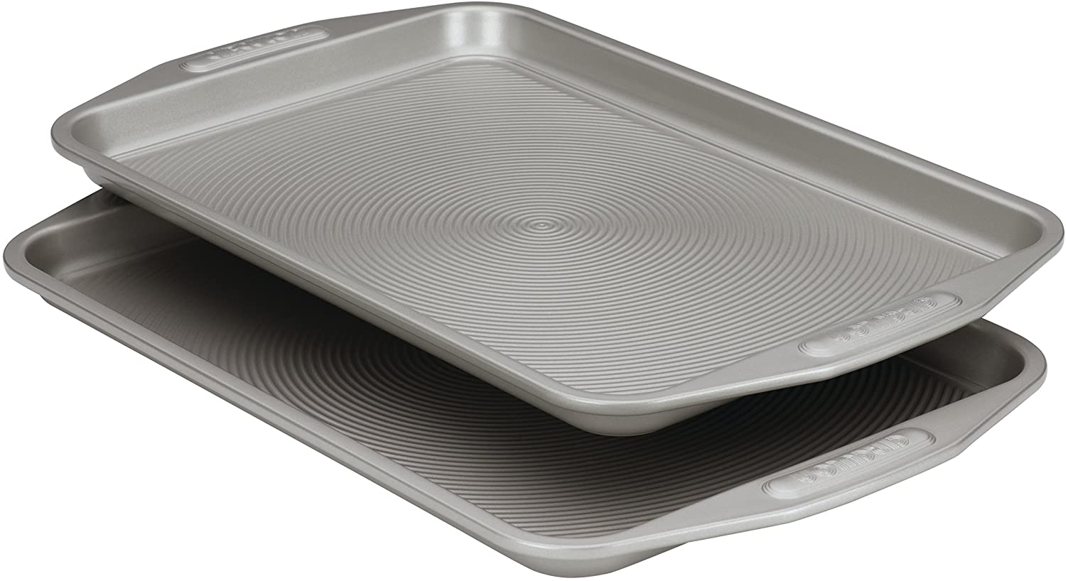 Circulon Total Bakeware Set Nonstick Cookie Baking Sheets, 2 Piece, Gray: Jelly Roll Pans: Kitchen & Dining