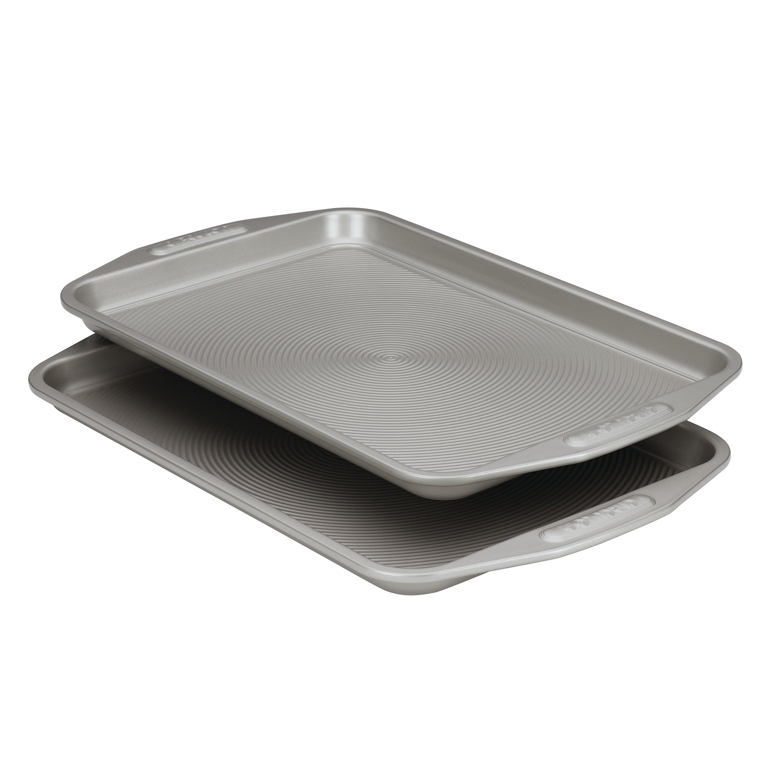 Circulon Nonstick Bakeware 10-Inch-by-15-Inch Cookie Baking Pan, 2-Piece Set by Circulon