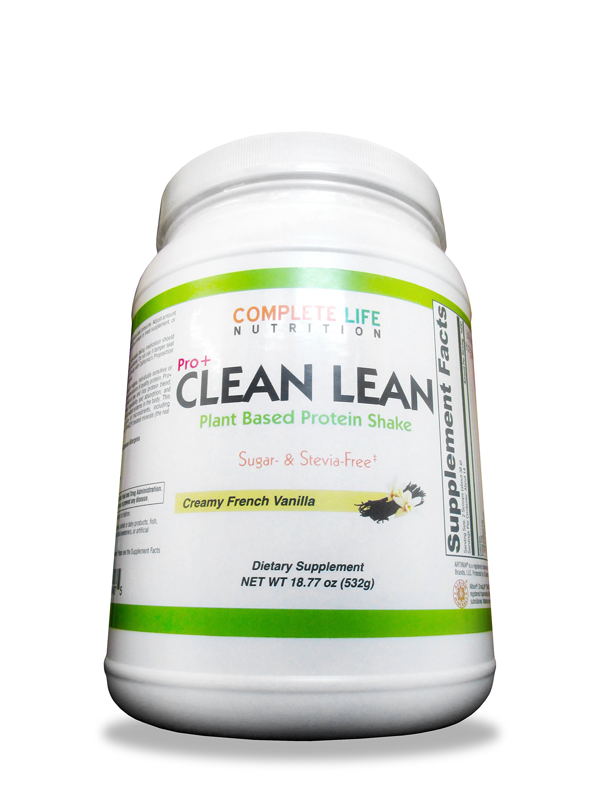 Clean Lean Vanilla Weight Loss Shake by Complete Life Nutrition - Natural Herbal and Vitamin Pea Protein Meal Replacement and Cleanse Shake - Low Carb - Use Daily For Healthy Women, Men, Diabetic