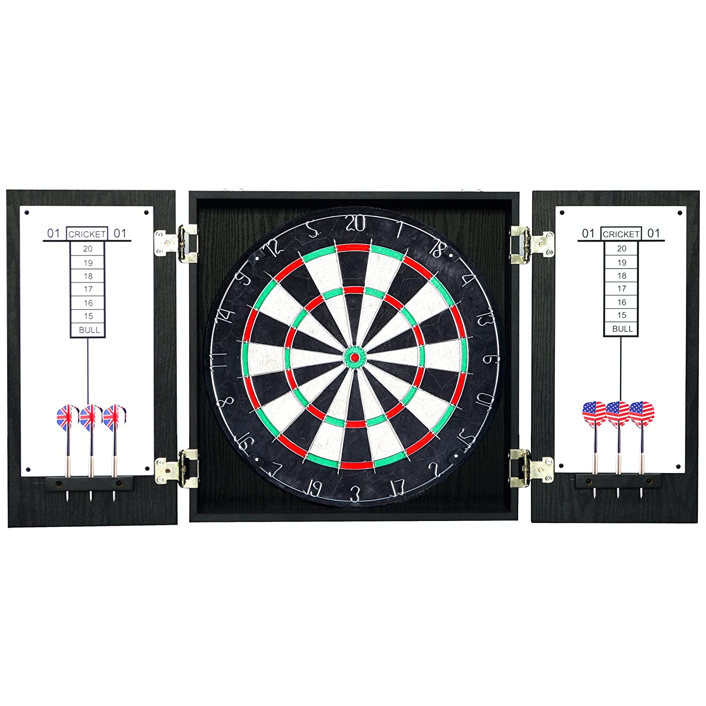 Amazon.com : Hathaway Winchester Dartboard and Cabinet Set, Black ...