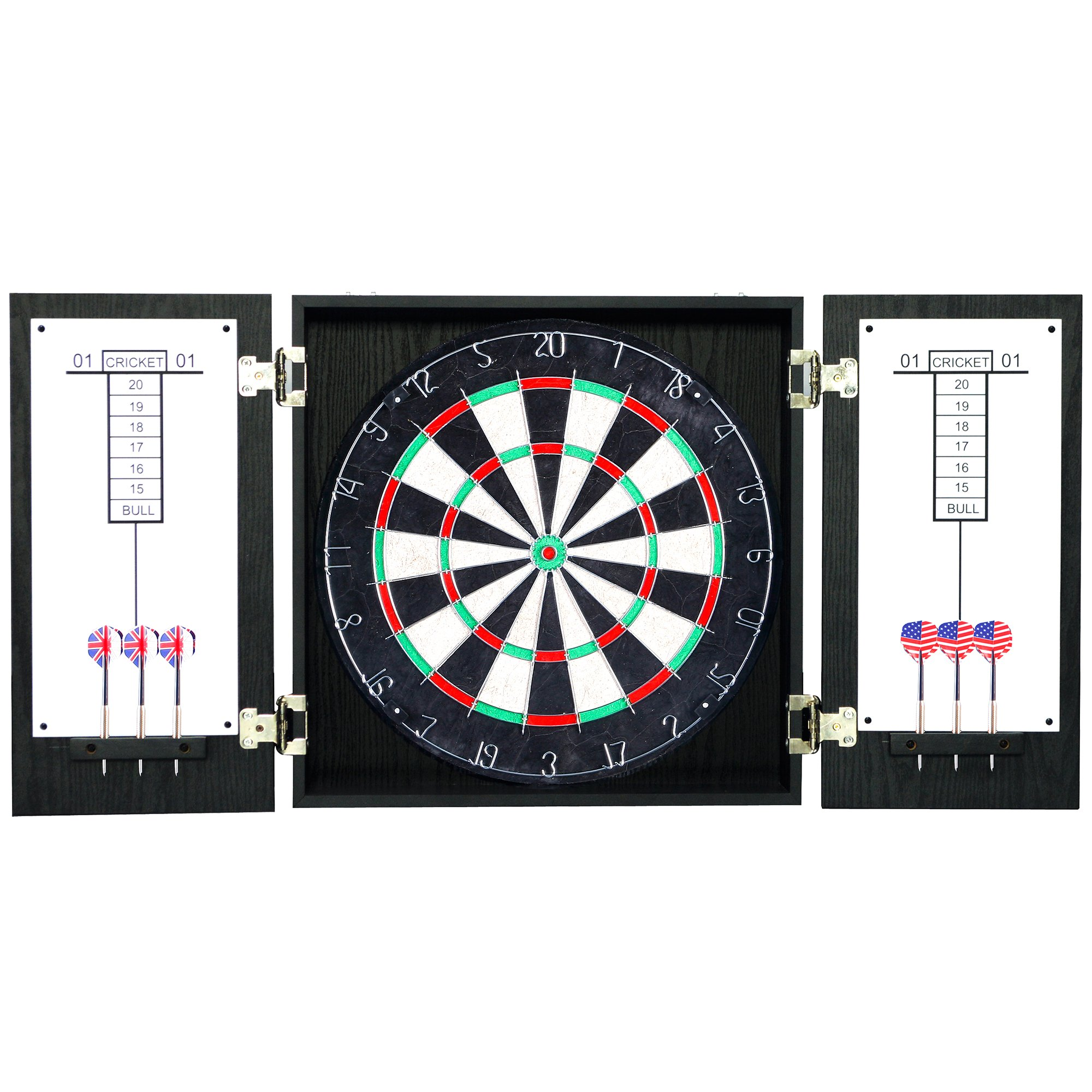 Hathaway Winchester Dartboard and Cabinet Set, Black by Hathaway