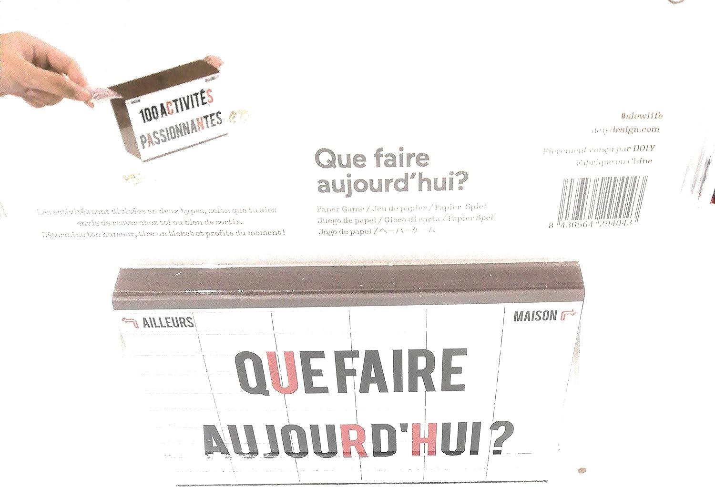 Doiy - Juego de papeles, caja para chupitos que hacer hoy: Amazon.es: Juguetes y juegos