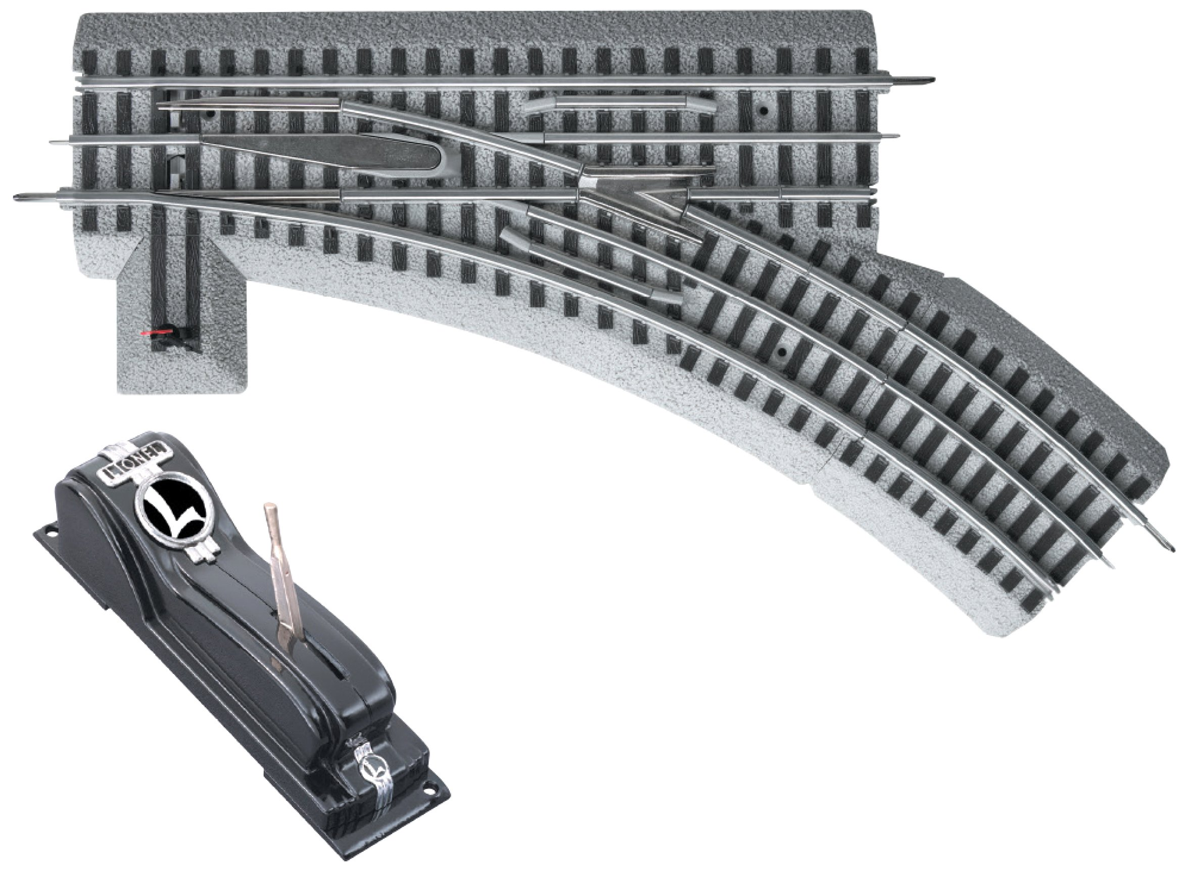 LionelFasTrack O36 Remote/Command Switch, Left Hand by Lionel (Image #1)