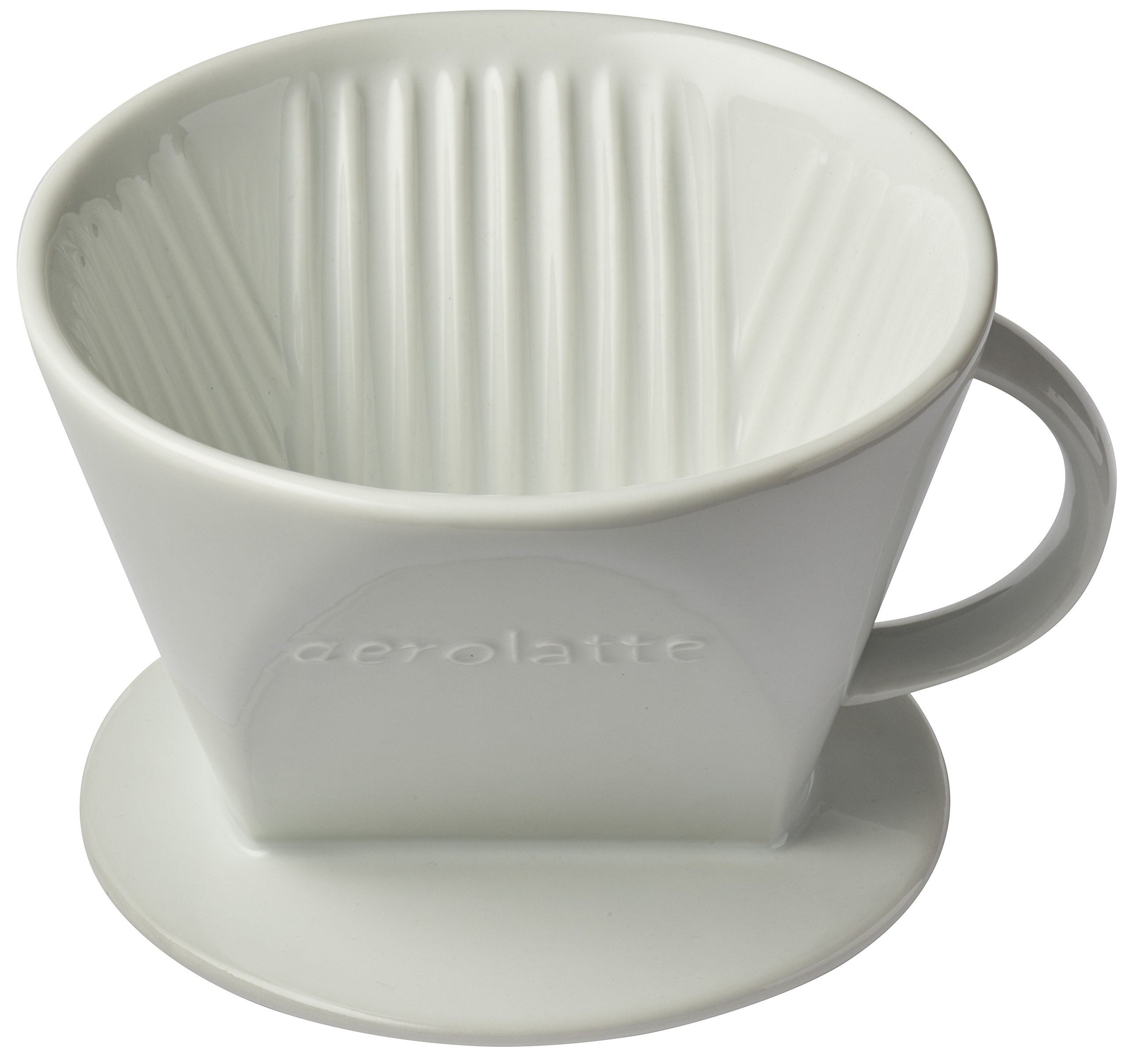 Aerolatte Pour Over Coffee Dripper Reusable Filter Cone Brewer, Number 4-Size, Brews 8 to 12-Cups