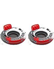"Intex River Run 1 53"" Inflatable Floating Water Tube Lake Raft, Red (2 Pack)"