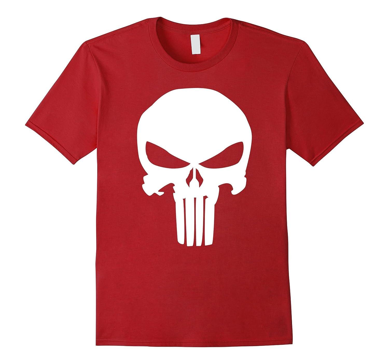 Punisher Classic Skull Symbol Graphic T-Shirt-TD
