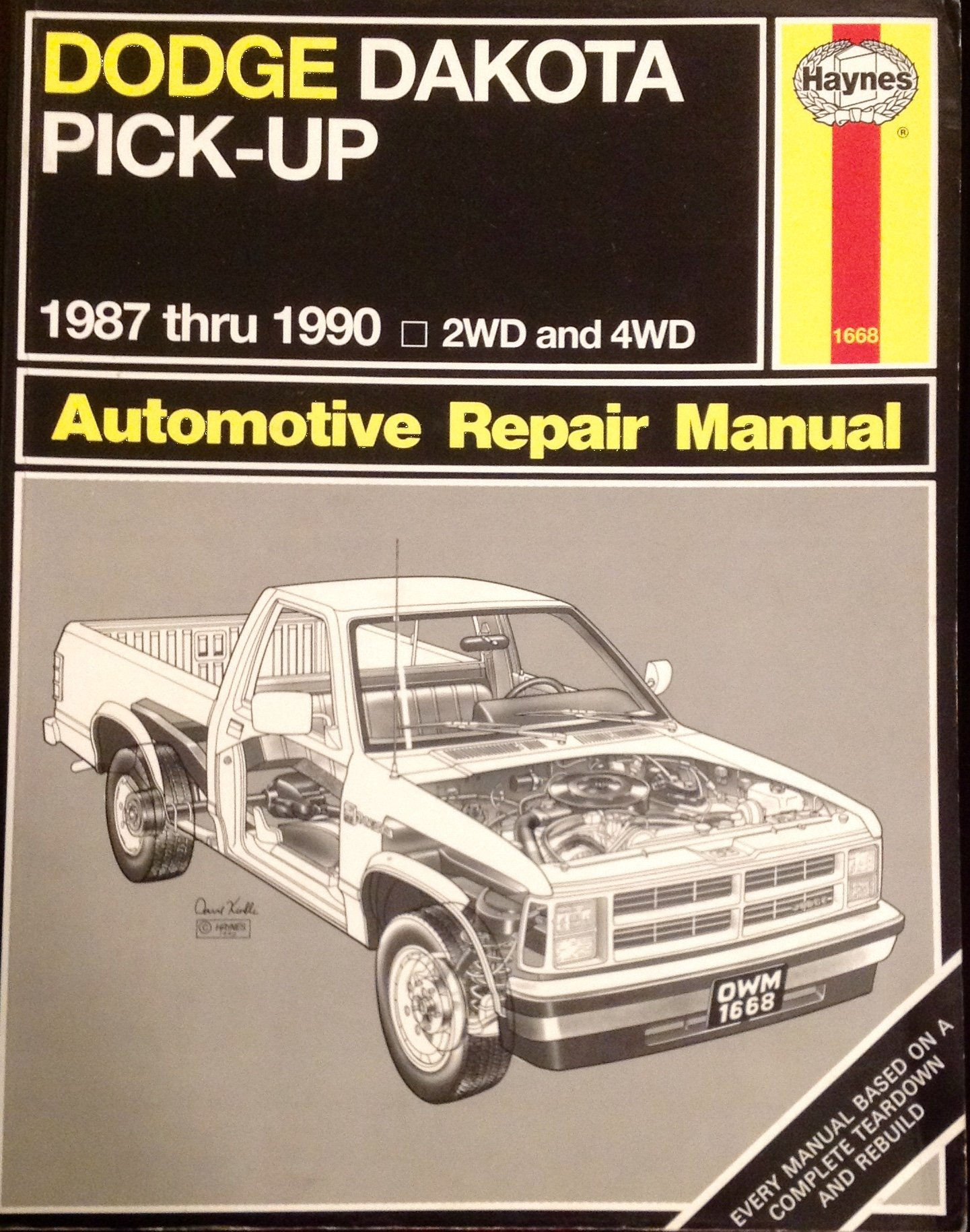 Dodge Dakota Pick-up 1987 thru 1990 2WD and 4WD Automotive Repair Manual:  Brian Styve, J. H. Haynes: 9781850106685: Amazon.com: Books