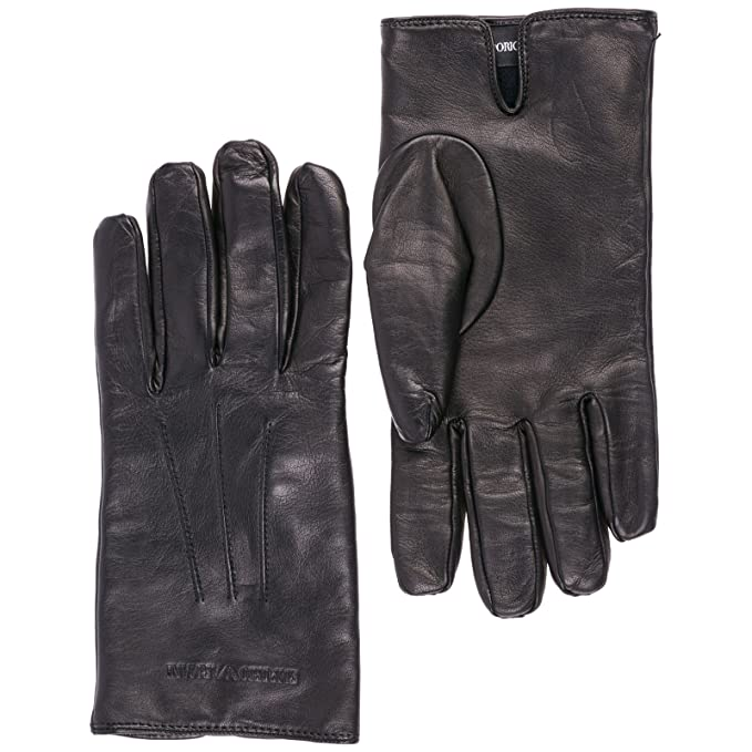 comprare bene immagini dettagliate acquista per il più recente Emporio Armani guanti uomo in pelle nero: Amazon.it ...