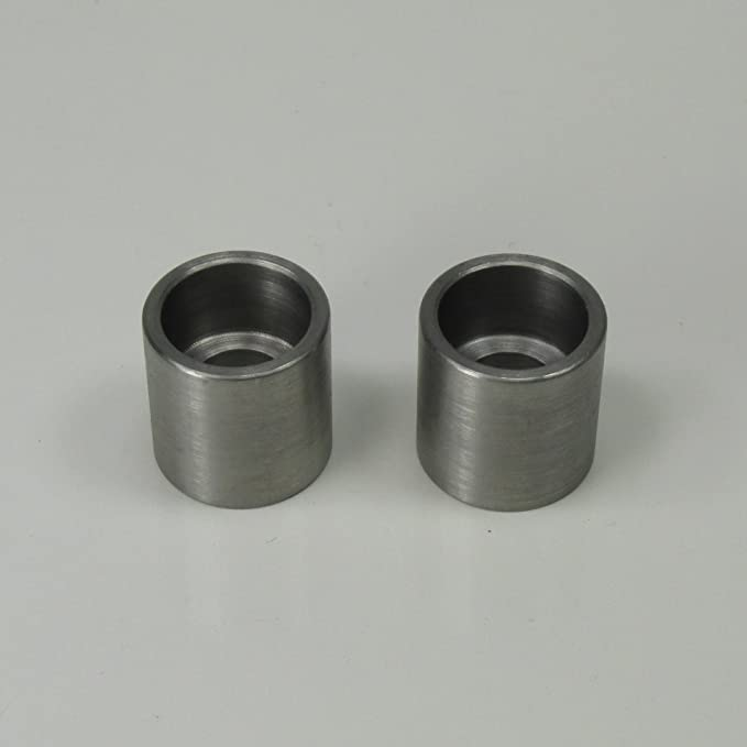 Quantity of 2 5//16-18 Short Straight Threaded Steel Bungs Made in The USA Fabrication Parts DIY Motorcycle Chopper Bobber Cafe Racer Builder