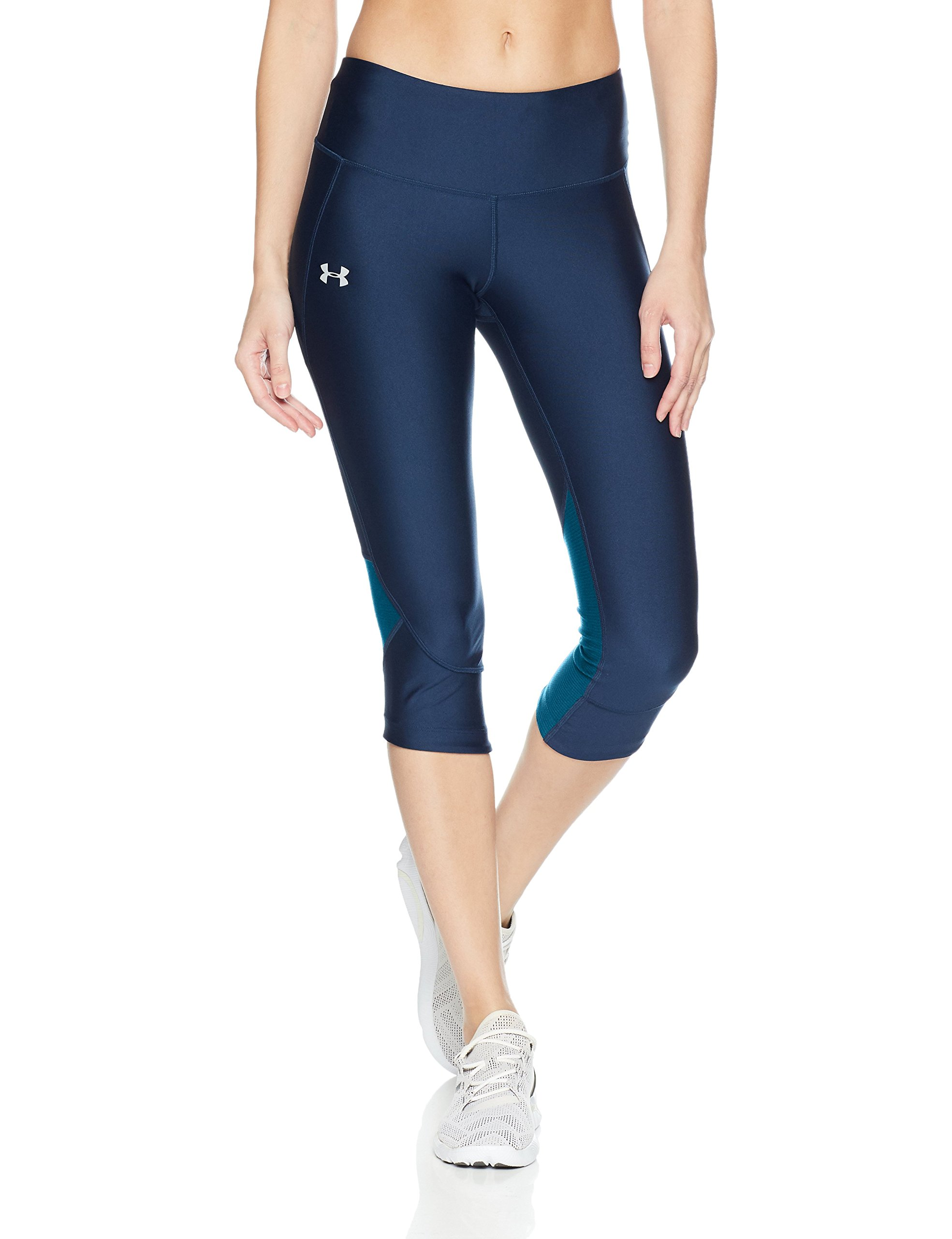 Under Armour Women's Armour Fly Fast Capris, Academy /Reflective, Small by Under Armour