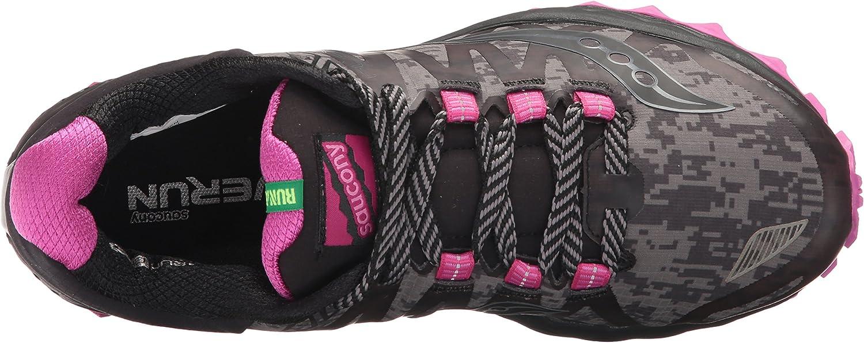 Saucony Womens S10360-1 Peregrine 7 Runshield Black Size: Black Pink