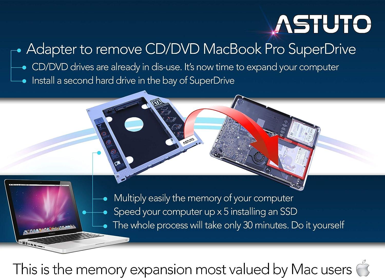 ASTUTO HDD/SSD SATA III Adaptador Compatible con MacBook y MacBook ...