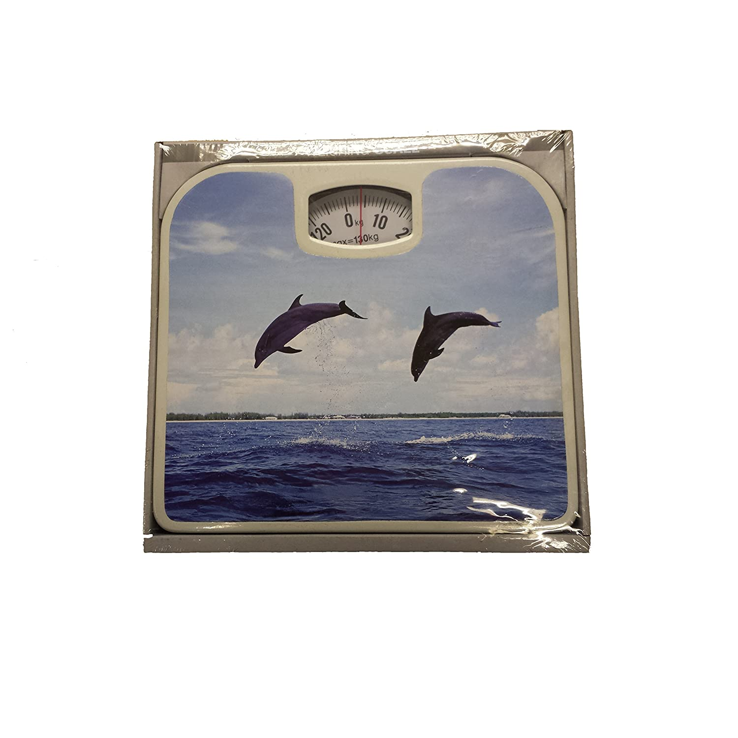 Dolphin at Sea Design Weighing Bathroom Scale 130kg Max Capacity Knight